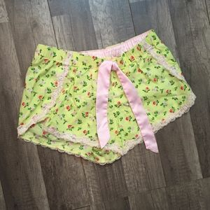 Victoria's Secret Floral Lace Sleep Shorts
